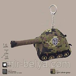 Плюшевый брелок в виде танка,зеленый-хаки