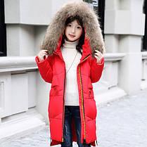 Куртка зимняя детская двуцветная молния, фото 3