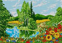 """Схема для вышивки бисером пейзаж """"Роскошь лета"""" (40х60)"""