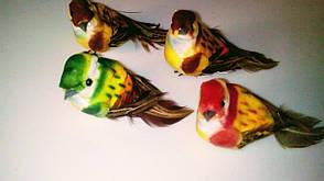 Искусственная,декоративная птичка., фото 2
