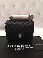 Мини сумочка Chanel mini flap натуральная кожа (реплика) c8319b237ae9d