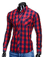 Мужская в клетку Рубашка R282 M, Красный