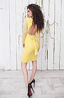 Платье гипюровое с открытой спинкой в расцветках 19310
