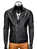 Мужская кожаная Куртка K325 M, Черный