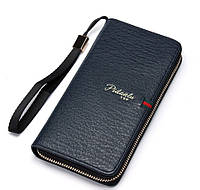 Мужской стильный портмоне клатч  PIDANLU TOP синего цвета