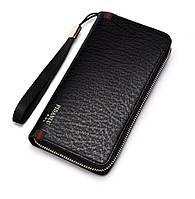 Мужской стильный портмоне клатч  PIDANLU PDL черного цвета