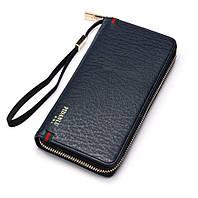 Мужской стильный портмоне клатч  PIDANLU PDL синего цвета