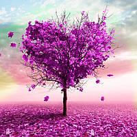 """Картина по номерам """"Дерево любви"""" [40х50см, С Коробкой]"""