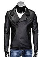 Мужская кожаная Куртка K324 M, Черный