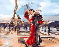 """Картина по номерам """"Париж - город влюбленных"""" [40х50см, С Коробкой]"""