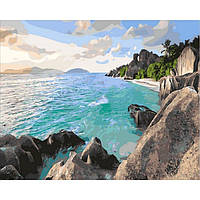 """Картина по номерам """"Карибский берег"""" [40х50см, С Коробкой]"""