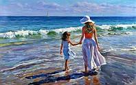 """Картина по номерам """"Прогулка с мамой"""" [40х50см, С Коробкой]"""