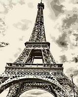Картина по номерам Эйфелева башня 40х50см Mariposa