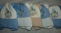 Зимняя шапка для новорожденных Лыжник