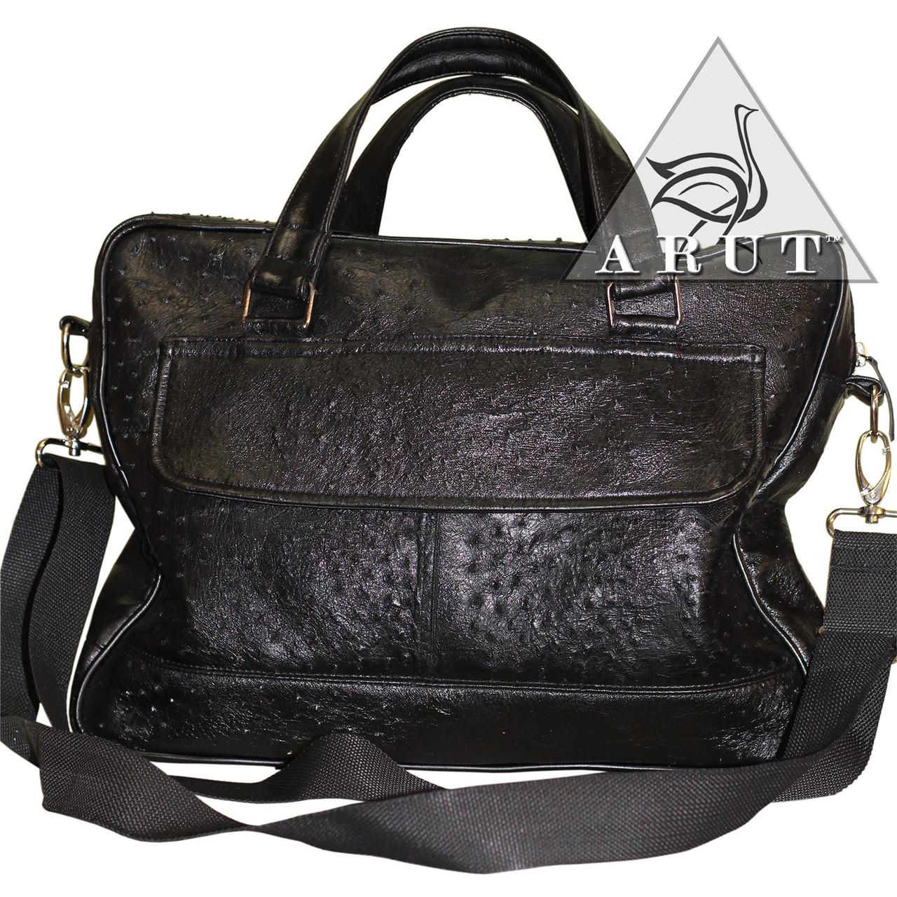 ba2c5dc26dad Купить Мужская сумка из натуральной кожи страуса в Николаеве от ...