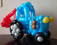 Синий трактор (высота ок. 40 см)