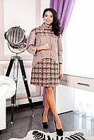 Бежевое демисезонное пальто В-1060 Seul Jaco Тон 4491 44-52 размер