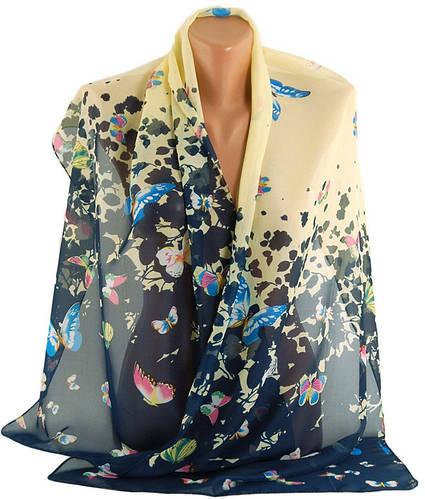 Красивый  шарф женский, шифон, 45х150 см, Trаum 2495-25, разноцветный.