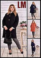 42,44,46,48,50,52,54,56, 58,60 Красивое черное 770614 осеннее женское пальто батал большое кашемировое