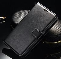 Кожаный чехол-книжка для Samsung Galaxy J5 J500 черный