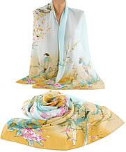 Симпатичный шарф женский, шифон, 45х150 см, Trаum 2495-28, разноцветный.