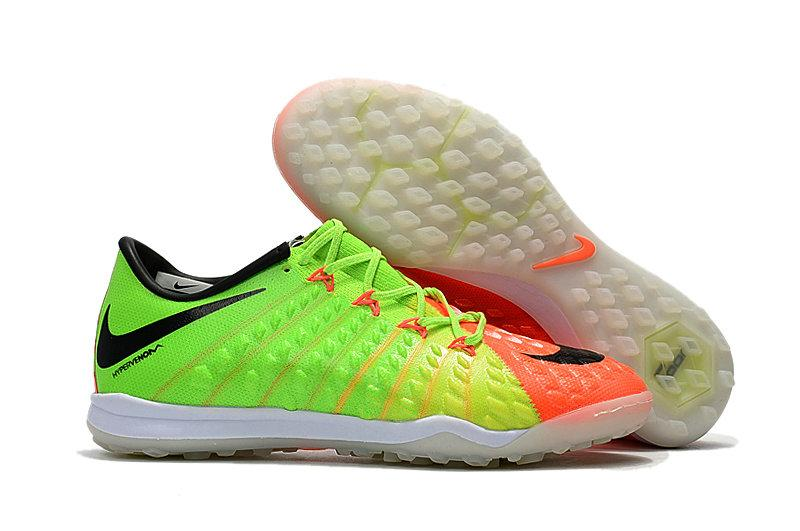Сороконожки Nike Hypervenom Phantom III TF Orange-Green-Black -  Интернет-магазин