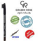 Карандаш для бровей тёмно-коричневый Golden Rose Dream №304 Голден роуз дрим, фото 2