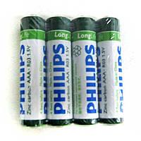 Батарейка         R03   Philips long life trey по 4шт