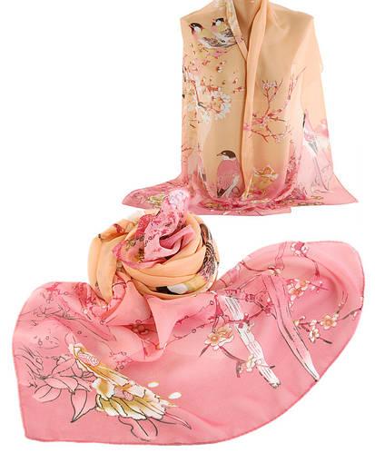 Симпатичный шарф женский, шифон, 45х150 см,  Trаum 2495-29, разноцветный.