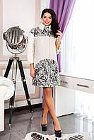 Женское белое демисезонное пальто В-1060 Oasi Тон 8 44-52 размер