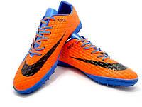 Футбольные сороконожки Nike HyperVenom Phelon III TF Royal Blue/Black/Hyper Orange, фото 1