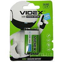 Батарейка  крона  6LF22   Videx  блистер