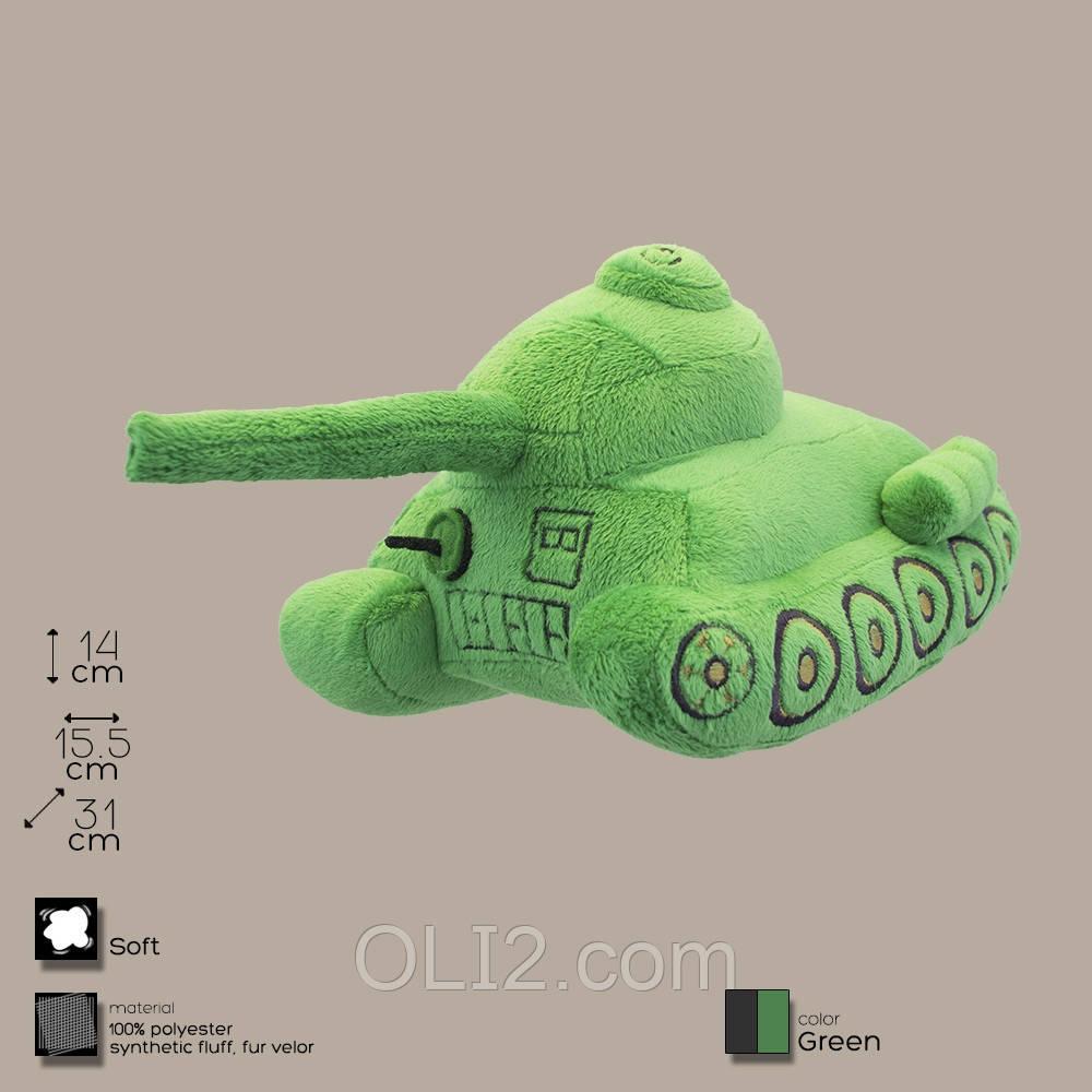 Плюшевая игрушка танк Т-34.