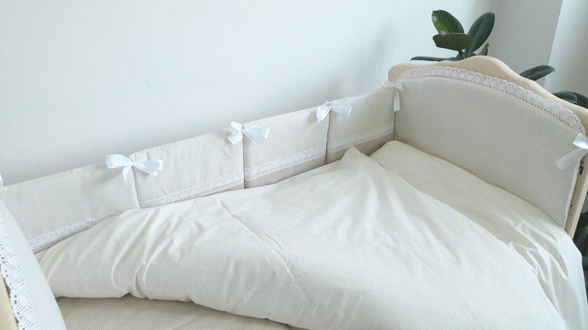 """Спальный комплект в детскую кроватку для новорожденных 4 ед. """"Кристина"""" бежевый"""
