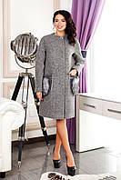 Женское серое демисезонное пальто В-1064 Cost Тон 10 44-58 размер