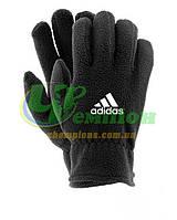 Зимние перчатки флис Адидас