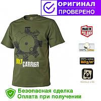 Мужская хлопковая футболка T-Shirt Helikon Bolt Carrier - US Green (TS-BCR-CO-29)