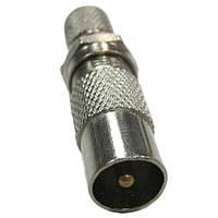 Коннектор с гайкой (папа) для антенного кабеля