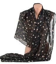 Женский шарф, шифон, 65х150 см, Trаum 2495-35, цвет черный.