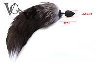 Черный лисий хвост – анальная пробка