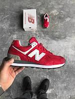 Кроссовки женские New Balance NB 574 Red, нью беланс