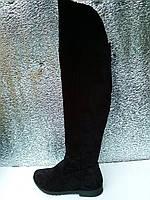 Сапоги женские замшевые и кожаные ботфорты