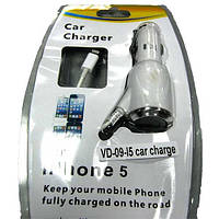 Автомобильное зарядное устройство ОД VD-09-15 (1000mA)(Распродажа!!!)для  iPhone5