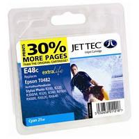 Картридж JET-TEC для Epson  E48c  T0482  cyan