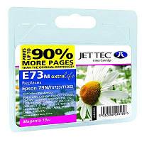 Картридж JET-TEC для Epson  E73m  (E114m)  T0733  magenta