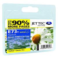 Картридж JET-TEC для Epson  E73y  (E114y)  T0734  yellow
