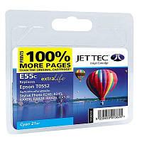 Картридж JET-TEC для Epson  E95c  T0552  cyan