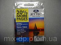 Картридж JET-TEC для Epson E115c  T0822  cyan
