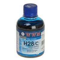 Чернила WWM для HP  H28/C cyan 200ml(Распродажа!!!)