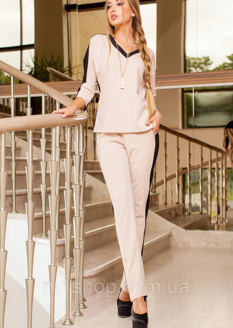 Универсальный женский костюм с лампасами (Саржа jd)